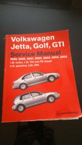 Volkswagen - 1999-2005 VW Jetta, Golf, GTI Bentley Repair Shop M