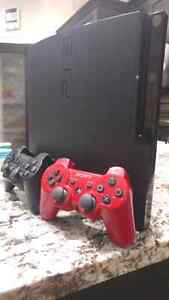 PS3 WITH 2 CONTROLLERS, 7 GAMES, HEADSET, PS MOVE