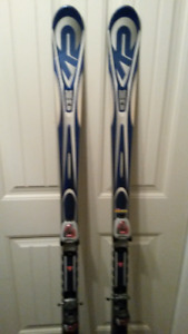 Adult skis, boots and poles