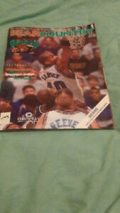 Vancouver Grizzlies Ticket Stub & Official Magazine (1st Season)