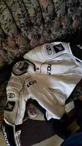 XL white Honda Joe rocket motorcycle jacket
