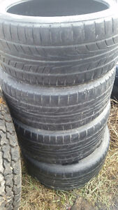 2 front tires Firestone Firehawk tires came off 2006 corvette