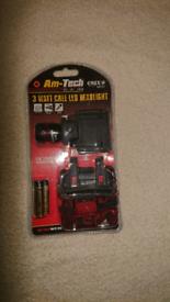 Am-Tech LED Head torch
