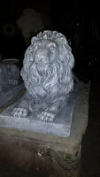 NEW CONCRETE-CEMENT  LAYING LIONS