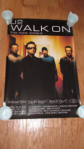 "U2 Elevation Tour (Canada 2001) ""Walk On"" Single -poster-only $3"