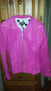 Danier soft leather pink jacket
