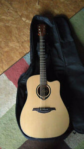 Guitar Electric Acoustic LAG T66DCE