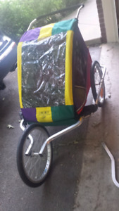 Chariot 2 seater bike trailer with jogging attachment