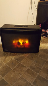 Twin star curved electric fireplace