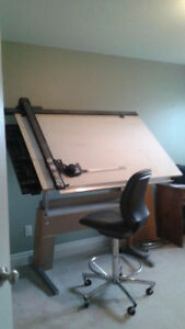 Architecture Drafting Table and Chair