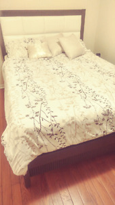 5 pc bedroom set with mattress and box spring