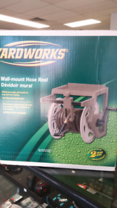 New in box Yardworks Wall Mount Hose Reel *19694*