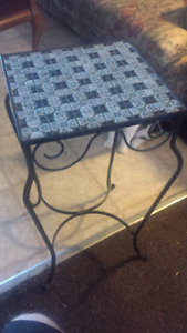 2 Wrought Iron Deco Tables