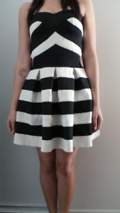 Beautiful black & white bandage dress for sale