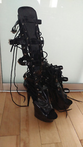 Pleasers fetish boots