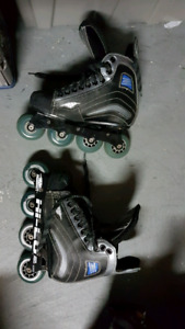 Kids used hockey equipment good condition!  Skates and more