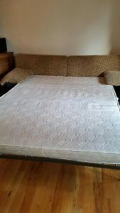 Leopard sofa double bed