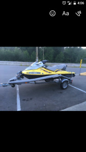 2002 supercharged 1500  gtx on trailer