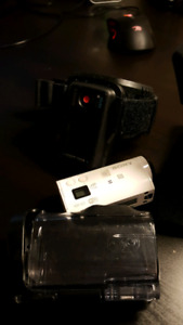 sony hdr az1 mini action cam with chest mount