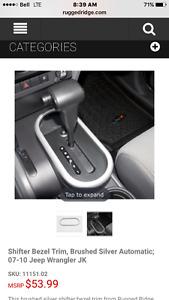 Jeep Wrangler auto transmission shifter trim