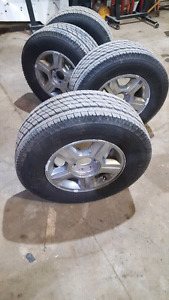 6x135 17 inch Ford Rims and Tires- Toyo Open Country 95% Tread