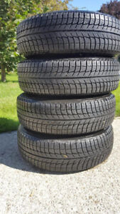 """15"""" Michelin Winter Tires including Rims for Sale"""