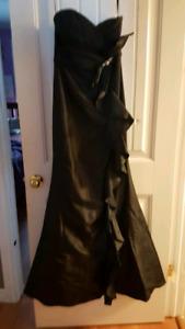 Long black prom dress new