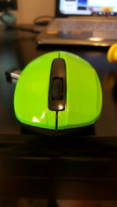 Green I HOME mouse