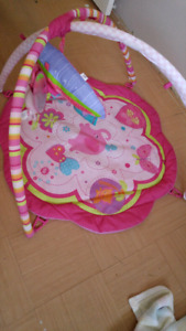baby girl activity mat