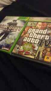 Gta 4 and cod world at war for xbox 360
