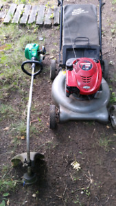 Lawnmower and weed eater