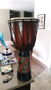 Djembe Wooden African Style.