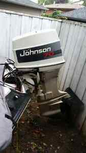 1996 70 HP Johnson Outboard with Tilt/Trim and Controls