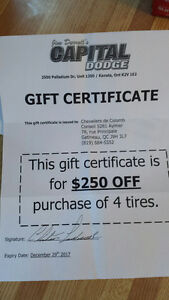 $250 discount gift certificate