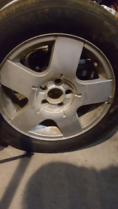 3 sets of rims and tires forsale cheap