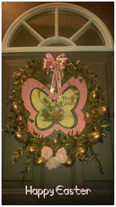 """NEW """"HAPPY EASTER"""" GRAPEVINE WREATH"""