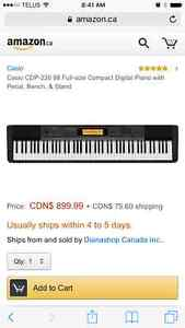 Casio CDP-220R full size electric piano 88keys Cornwall Ontario image 3