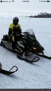 2015 skidoo sport 600 and 2013 triton double tilt trailer