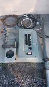 Complete 100 Amp electrical service components