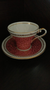 Aynsley Fine Bone China #2900 Pink Gold Chintz Cup and Saucer