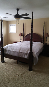 Bombay Queen Bed Frame & Dressers