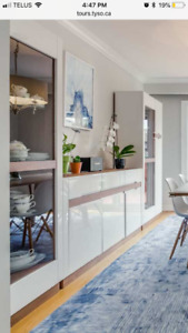Avril by Orren Ellis Dining room buffet and 2 china cabinets