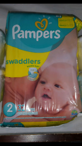 Pampers swaddlers size 2 bnip