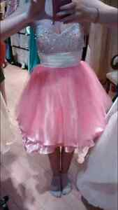 Short pink prom or formal dress (price reduced)