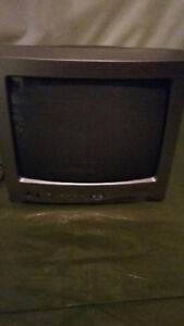 """13"""" Black and White TV with remote control"""