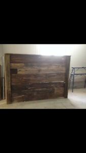 Reclaimed Wood Headboards and Beds