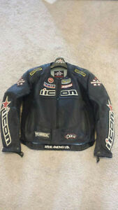 Men and Women's matching Nicon motorcycle jackets for sale!