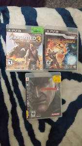 Mortal Kombat and Metal Gear Solid 4 for PS3