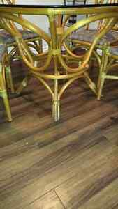 Glass dining table and four chairs London Ontario image 2