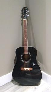 Epiphone Dr-100 model black acoustic guitar